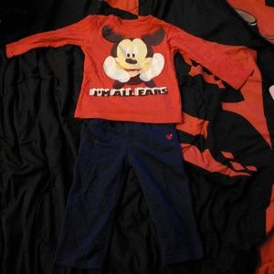 Mickey Mouse outfit.